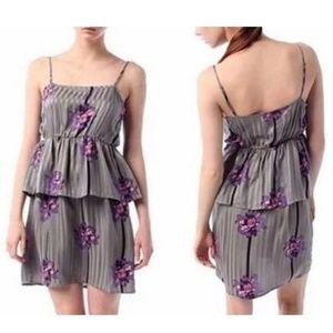 Urban Outfitters | Kimchi Blue Silk Dress Gray